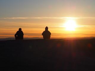 Den Sonnenuntergang erleben