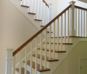 white staircase interior modern stair hardwood and painted style