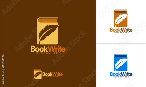 Book Creator logo designs template, Book Writer logo designs