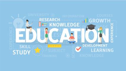 Education illustration concept.