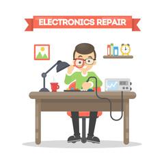 Electronics repair man.