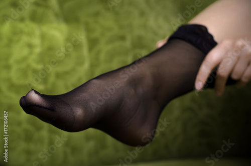 Sexy black female feet