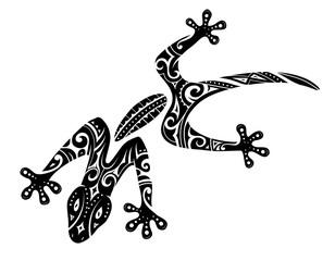 Maori style gecko tattoo