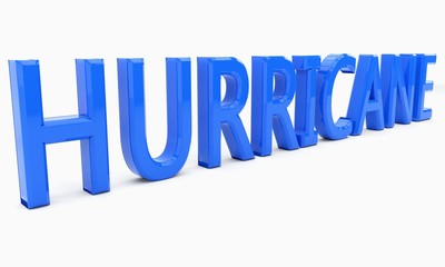 HURRICANE text of background, 3d