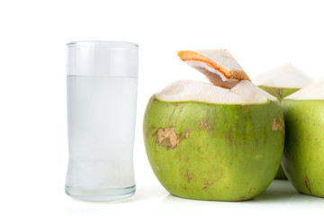 fresh coconut water with coconut