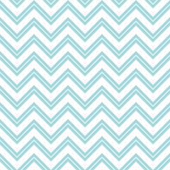 Retro Seamless Pattern Chevron Small Stripe Turquoise