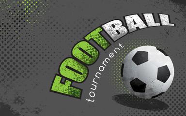 Football, soccer grunge