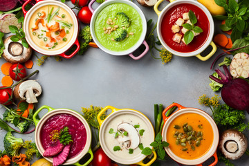 Vegetable cream soups