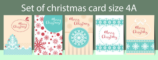 template christmas card size A4