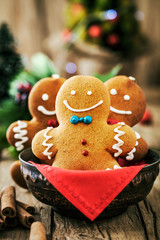 Gingerbread man on table