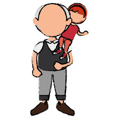 grandfather with grandson avatars