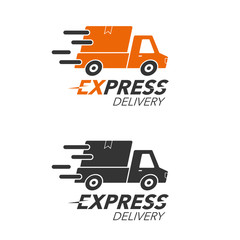 Express delivery icon concept. Pickup service, order, worldwide, fast and free shipping. Modern design.