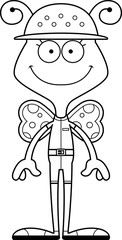 Cartoon Smiling Zookeeper Butterfly