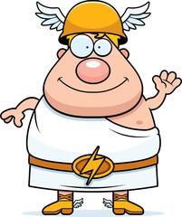 Cartoon Hermes Waving