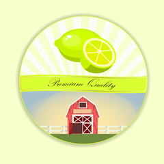 Sweet juicy whole and slice lemon