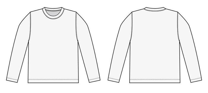 Longsleeve t-shirt illustration (white)