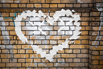 Texture Wall Wallpaper Plastering Ground Background Blank Rough Brick Mason Layer White Brown Beige Urban Street Graffiti Raster Stone Flat House Line Stroke Rip Organic Love Heart Post It Poster