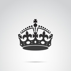 Crown vector icon.