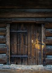 alte stabile Holztür