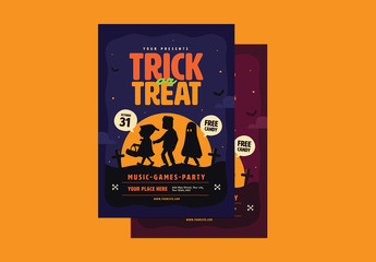 Halloween Trick or Treat Flyer Layout 1