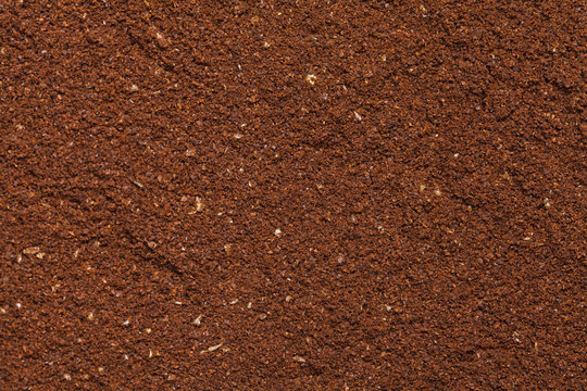 The background of the ground coffee