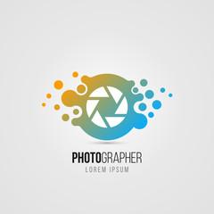 Camera symbol in modern style. Creative icon. Vector