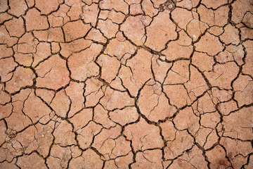 climate change, global warming, closeup cracked soil