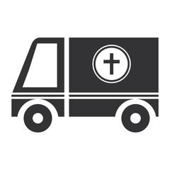 ambulance vehicle isolated icon