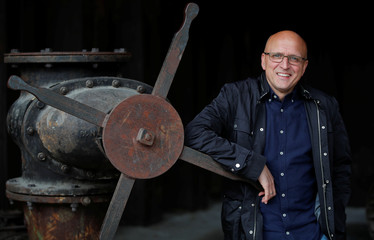 Egbert Bodmann of the Landscape Park Duisburg poses for a picture at a former steel plant of Germany's rust-belt city Duisburg