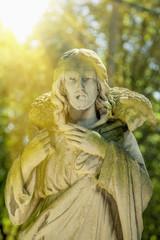 Ancient statue of Jesus Christ - the Good Shepherd