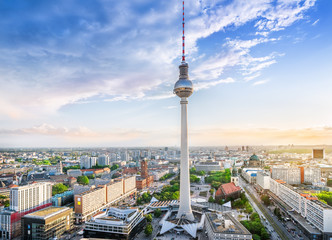 Aluminium Prints Berlin panoramic view at berlin city center