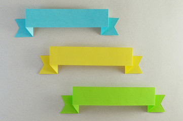 trio of blue, yellow and green horizontal strips