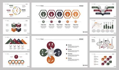Ten Planning Charts Slide Templates Set