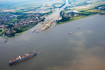 Germany from above - Hamburg, Elmshorn, Norderstedt and Hamburg