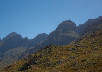 Landscape of the Western Cape along the Route 62 in South Africa