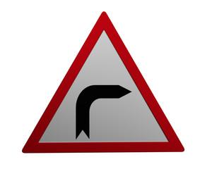 Verkehrszeichen: Kurve rechts