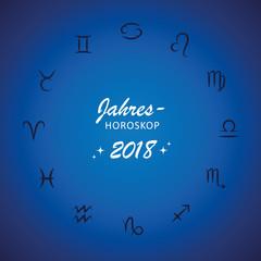 jahreshoroskop 2018 blau