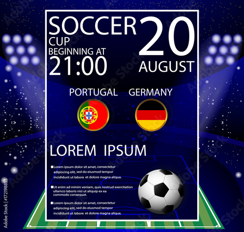 Eps 10 Vector Football Game Schedule Poster Template For Web Print World Soccer Tournament