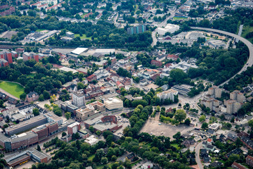 Germany from above - Hamburg, Elmshorn, Norderstedt and Hamburg