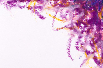 crayons blue purple frame