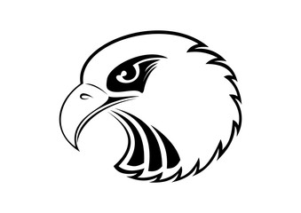 Eagle Head - vector illustration emblem
