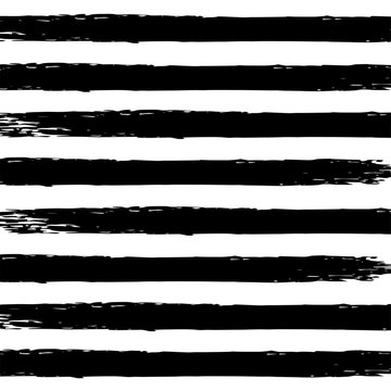 Black watercolor stripes on a white background in grunge style