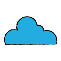 nice cloud shape to sky weather vector illustration