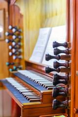 Detail of the organ