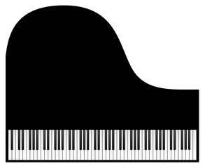 Piano Keyboard isolated on White Background. Vector eps 10