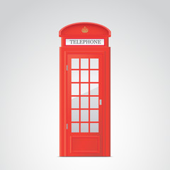Phone booth vector illustration.