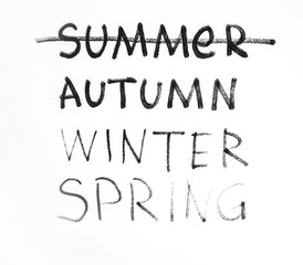 Autumn period of time on paper