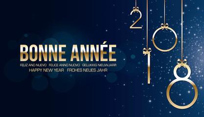 Bonne année 2018 bleue
