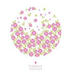 Vector illustration. Beautiful floral background. Vintage gentle pink. To