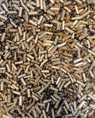 Empty rifle shell casings